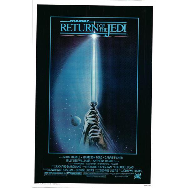 Return of the Jedi 1983 original vintage one sheet movie poster