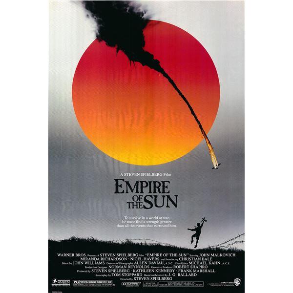 Empire of the Sun 1987 original one sheet movie poster