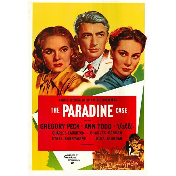 The Paradine Case 1956 original vintage one sheet poster