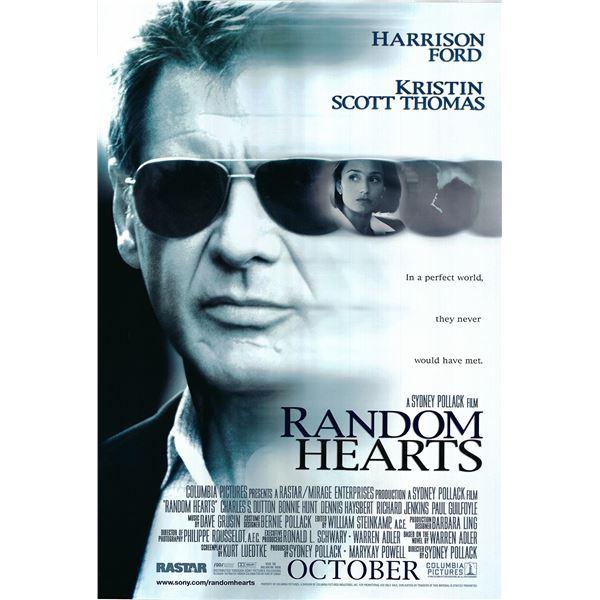 Random Hearts 1999 original one sheet movie poster