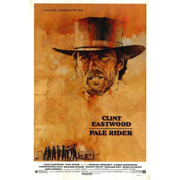 Pale Rider 1985 original vintage one sheet movie poster