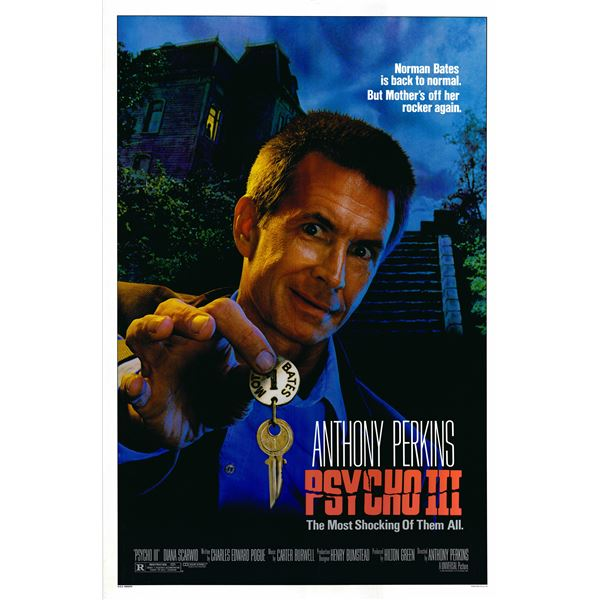 Psycho III 1986 original vintage movie poster