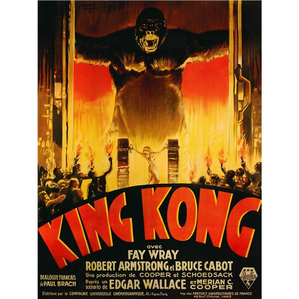 King Kong 1993 original French movie poster art