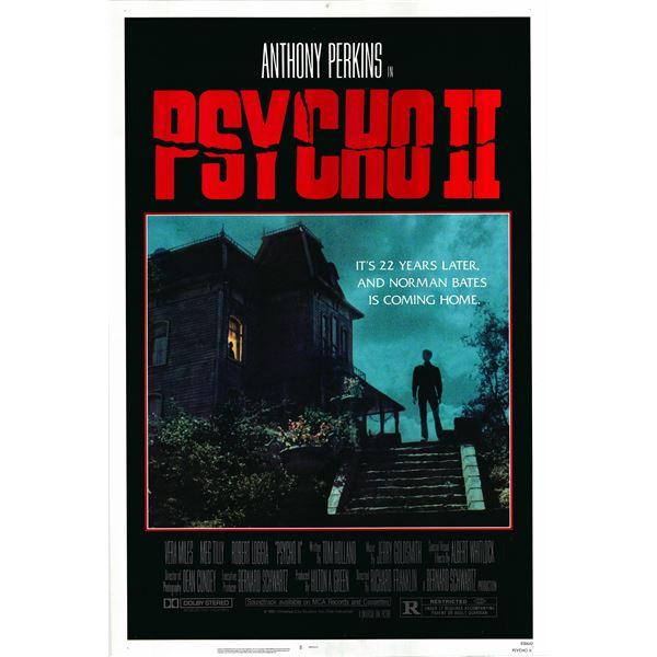 Psycho II 1983 original vintage movie poster