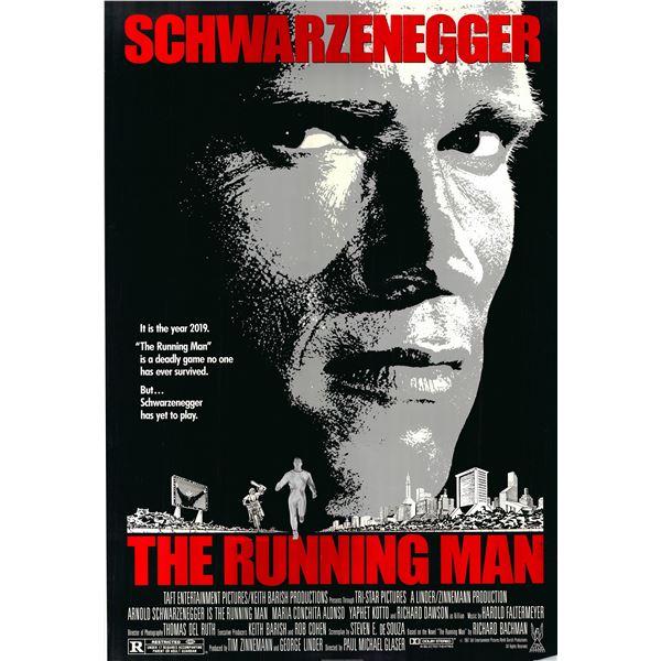 The Running Man 1987 original vintage one sheet poster