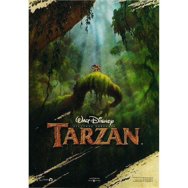 Tarzan 1999 original international advance one sheet movie poster