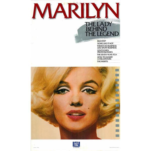 Marilyn 1963 original vintage video insert poster