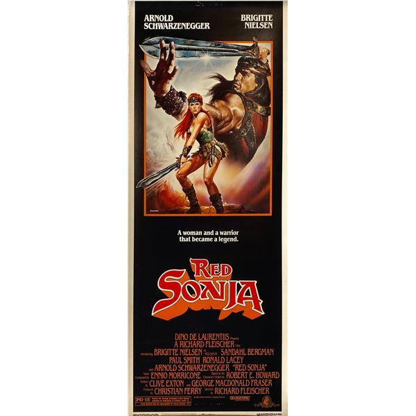 Red Sonja 1985 original vintage insert card