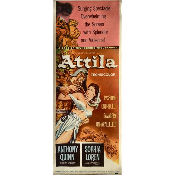 Attila 1962 original vintage insert card