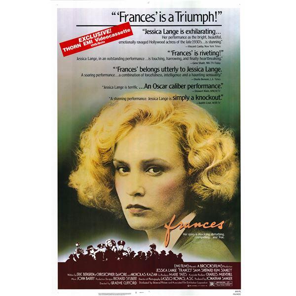 Frances 1982 original vintage one sheet poster