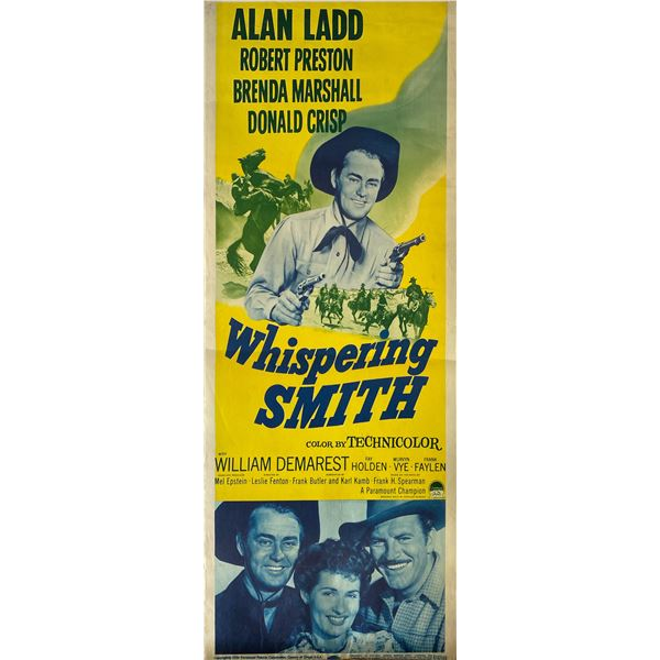 Whispering Smith 1956 original vintage insert card