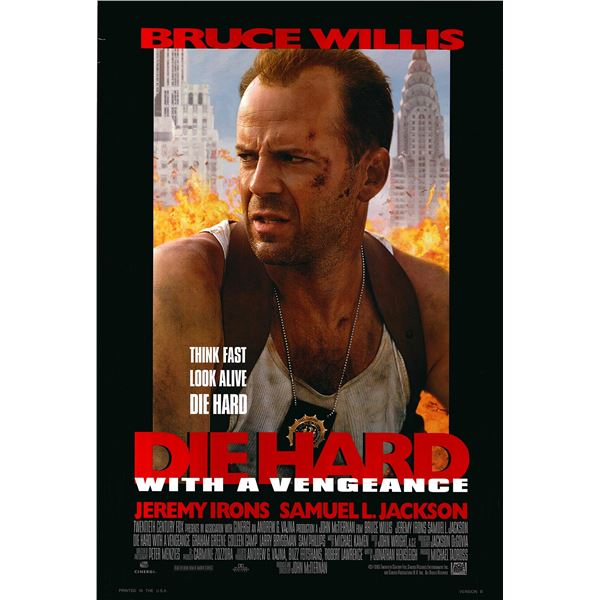 Die Hard with a Vengeance 1995 original one sheet movie poster