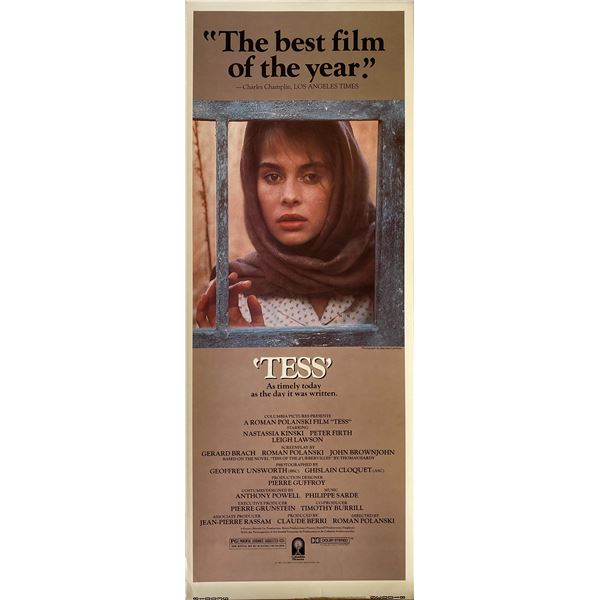 Tess 1981 original vintage insert card
