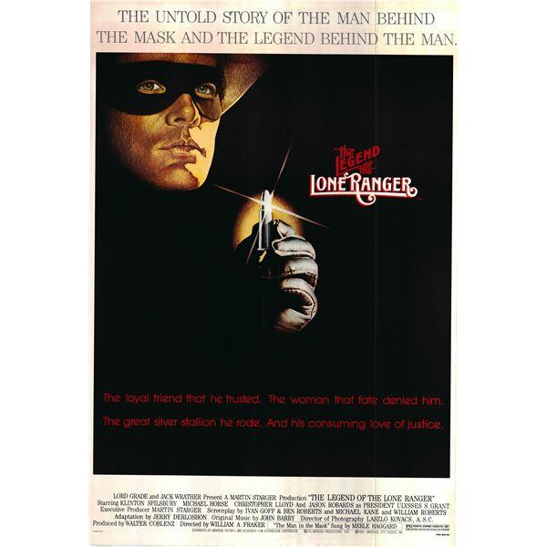 The Legend of the Lone Ranger 1980 original vintage one sheet poster