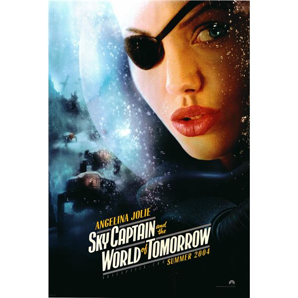 Sky Captain and the World of Tomorrow 2004 original advance one sheet movie poster