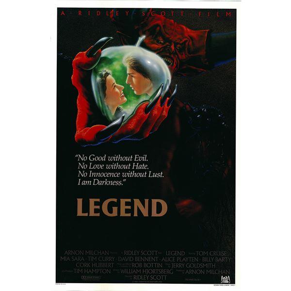 Legend 1986 original vintage international one sheet movie poster