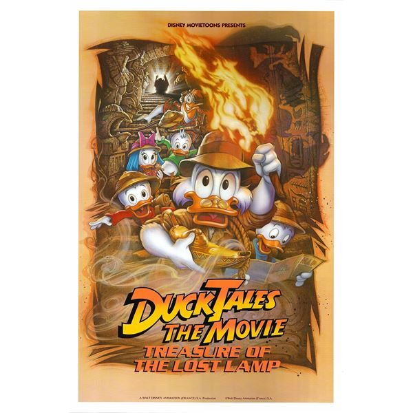 DuckTales the Movie: Treasure of the Lost Lamp 1990 original one sheet movie poster