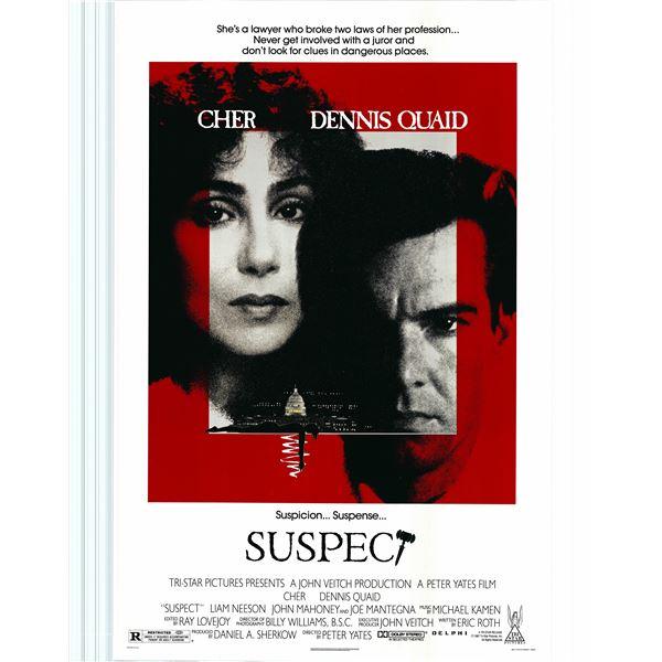 Suspect 1987 original vintage movie poster