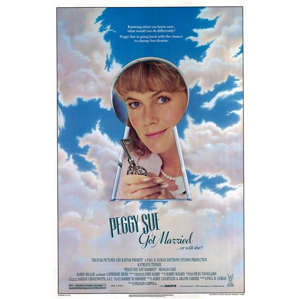 Peggy Sue Got Married 1986 original vintage one sheet movie poster