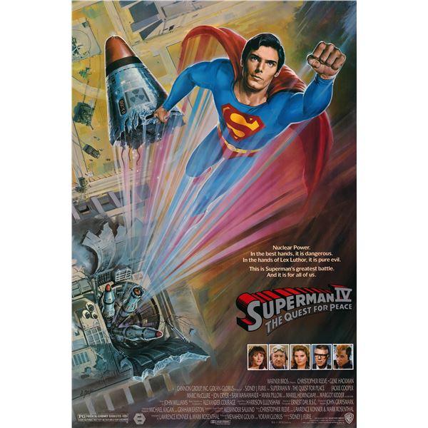Superman IV: The Quest for Peace 1987 original vintage movie poster