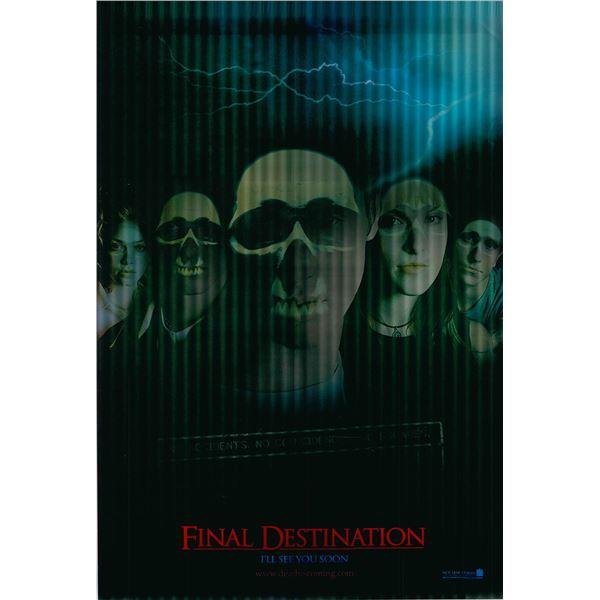 Final Destination 2000 original lenticular one sheet movie poster