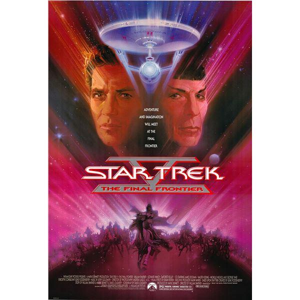Star Trek V: The Final Frontier 1989 original vintage one sheet movie poster