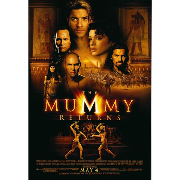 The Mummy Returns 2001 original one sheet movie poster