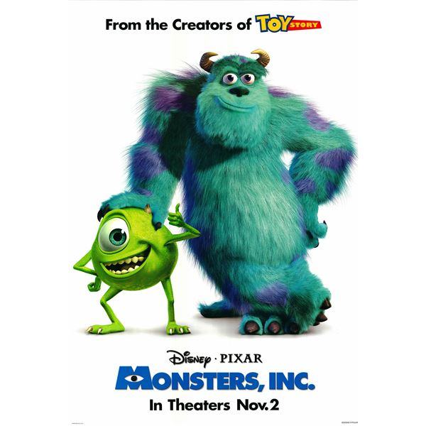 Monsters, Inc. 2001 original movie poster