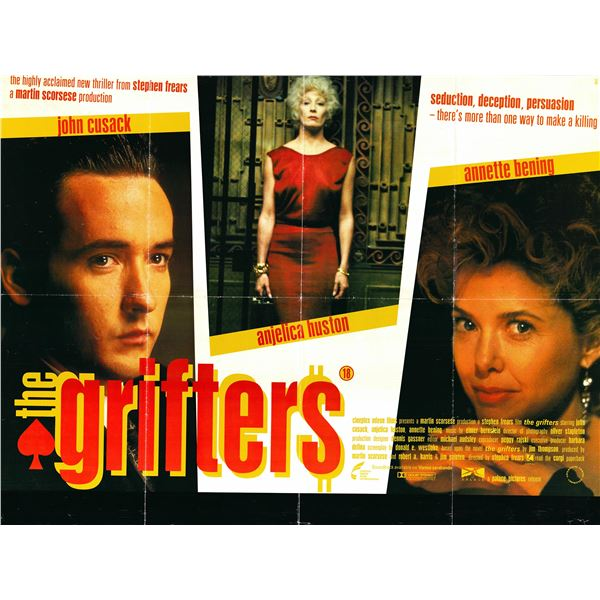 The Grifters 1990 original British quad movie poster