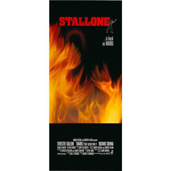 Rambo: First Blood Part II 1985 original vintage movie poster