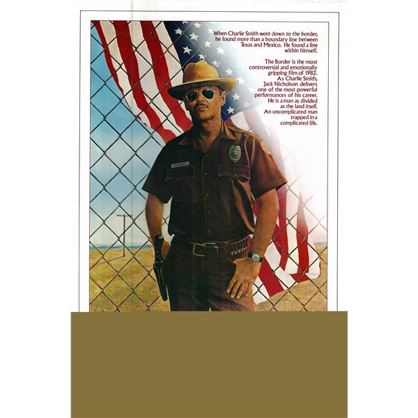 The Border 1982 original vintage one sheet poster
