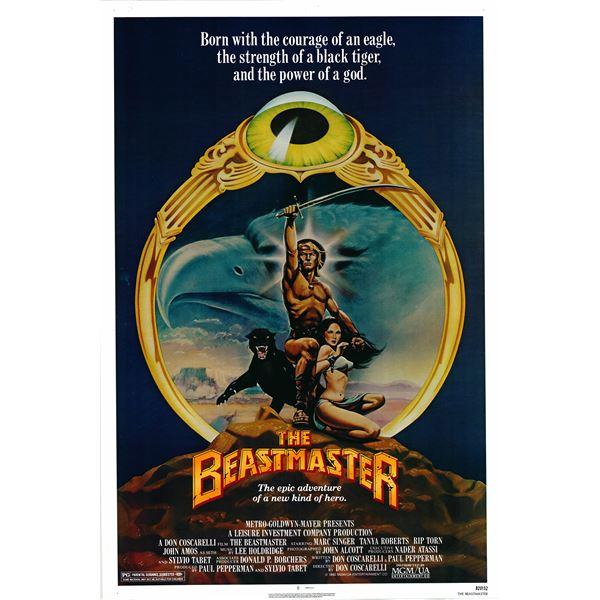 The Beastmaster 1982 original vintage movie poster