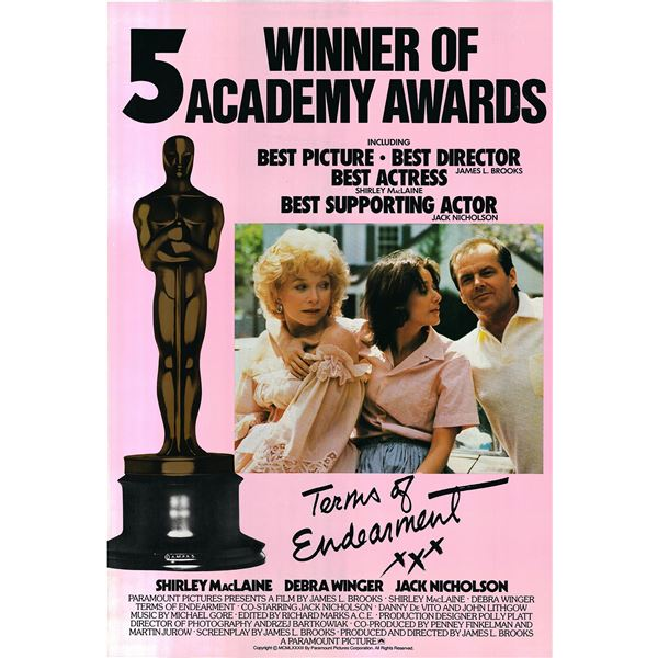 Terms of Endearment 1983 original vintage one sheet movie poster