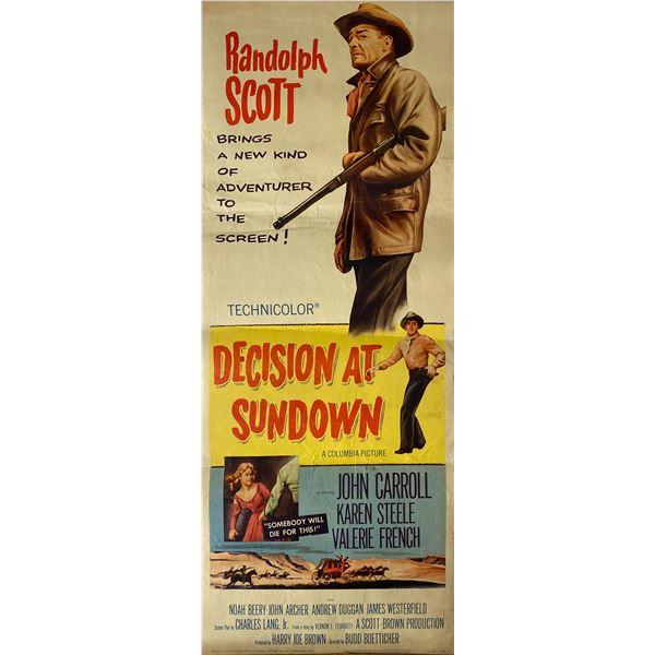 Decision at Sundown 1957 original vintage insert card