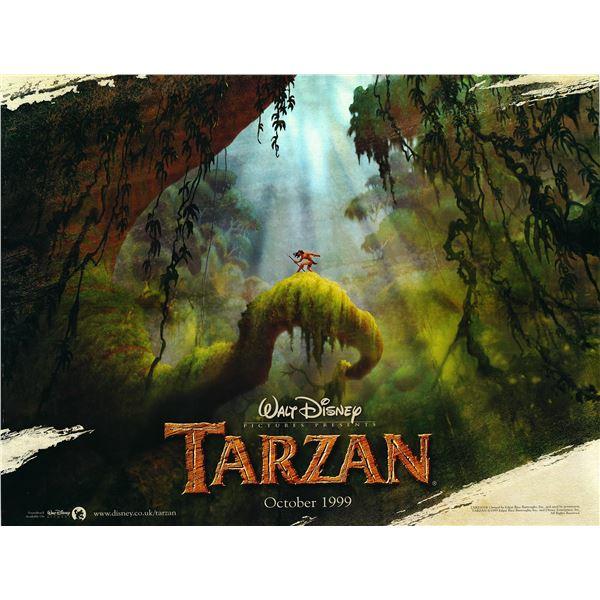 Tarzan 1999 original British quad movie poster