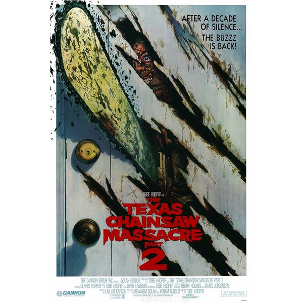 The Texas Chainsaw Massacre 2 1986 original one sheet movie poster