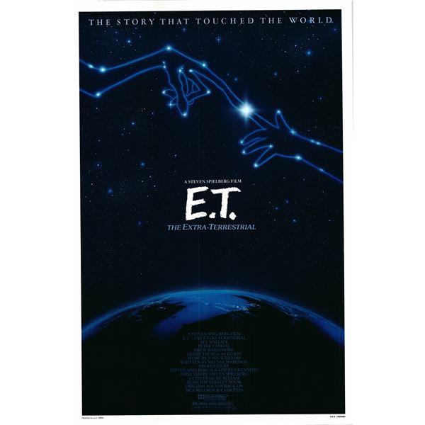 E.T. 1982 original vintage one sheet poster