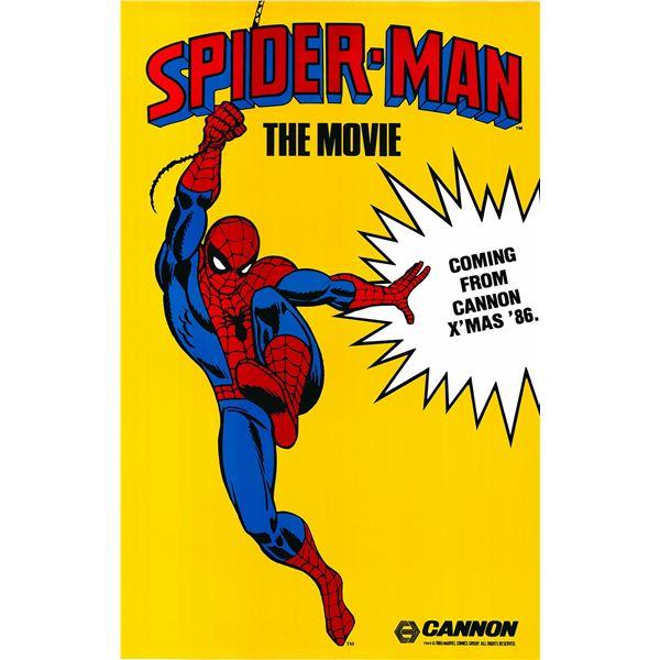Spider-Man: The Movie 1986 original vintage advance sheet movie poster
