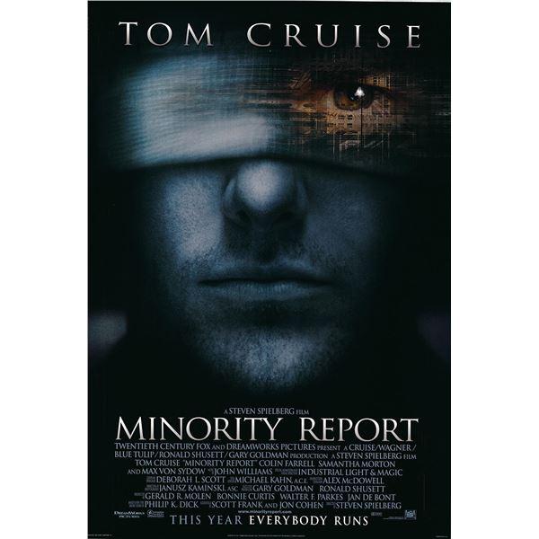 Minority Report 2002 original one sheet movie poster