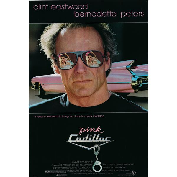 Pink Cadillac 1989 original vintage movie poster