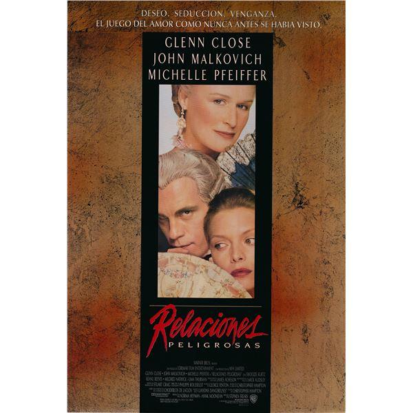 Relaciones Peligrosas (Dangerous Liaisons -Spanish Version) 1988 original vintage movie poster