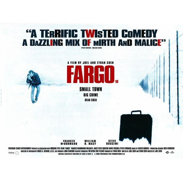 Fargo 1996 original British Quad Movie Poster