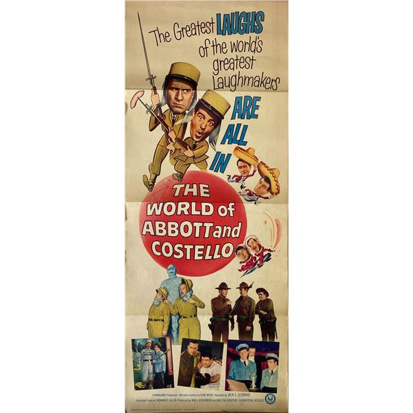 The World of Abbott & Costello 1965 original vintage insert card