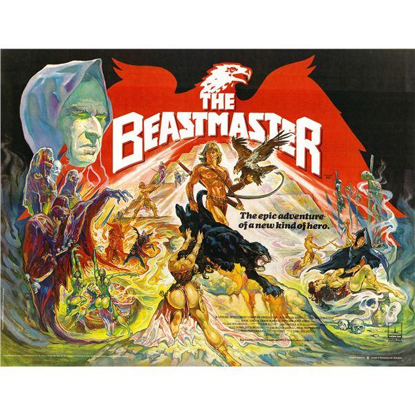 The Beastmaster 1982 original vintage British quad one sheet movie poster