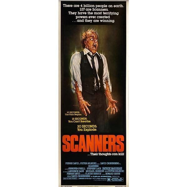 Scanners 1981 original vintage insert card
