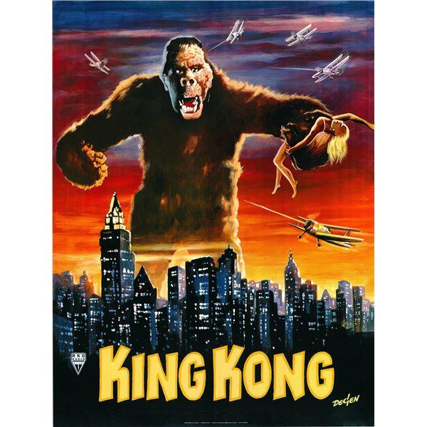 King Kong 1933 original German movie poster art