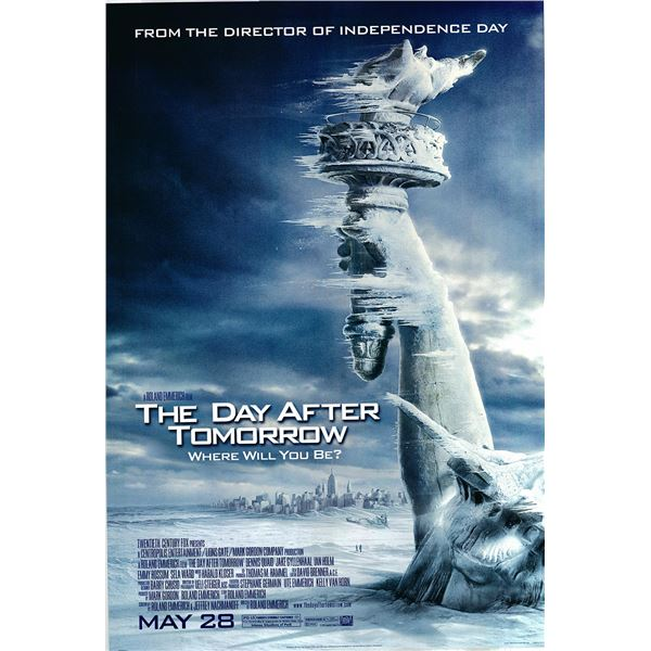 The Day After Tomorrow 2004 original advance movie poster