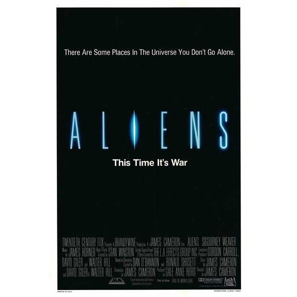 Aliens 1986 original vintage one sheet poster
