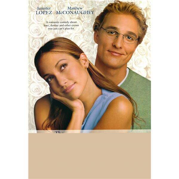 The Wedding Planner 2001 original one sheet poster