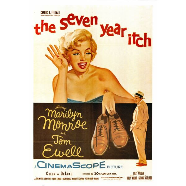 The Seven Year Itch 1955 original vintage movie poster